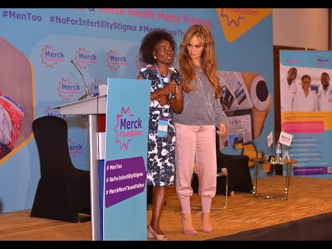 Merck more than a Mother Heroine - Linda Haiduwa, Namibia during Media Health Training