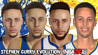 Stephen Curry Ratings and Face Evolution (College Hoops 2K7 - NBA 2K18)