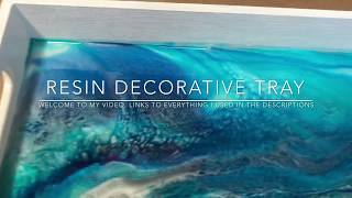 #7 Decorative  tray  using resin and ocean colors