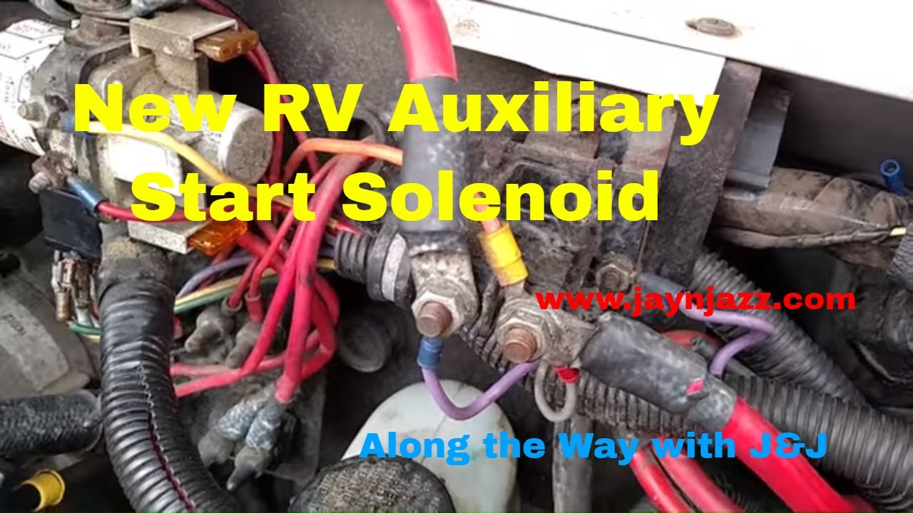 bobcat wire diagram installing a new auxiliary start solenoid rv repair rv  installing a new auxiliary start solenoid rv repair rv