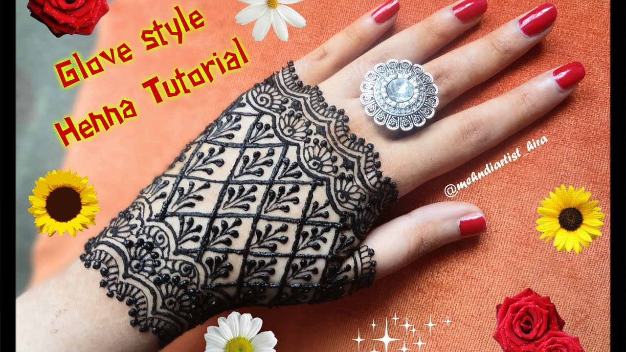 Mehndi design 2017 eid - How To Apply Easy Simple Latest Glove Henna Mehndi Designs For Hands Tutorial For Eid 2017