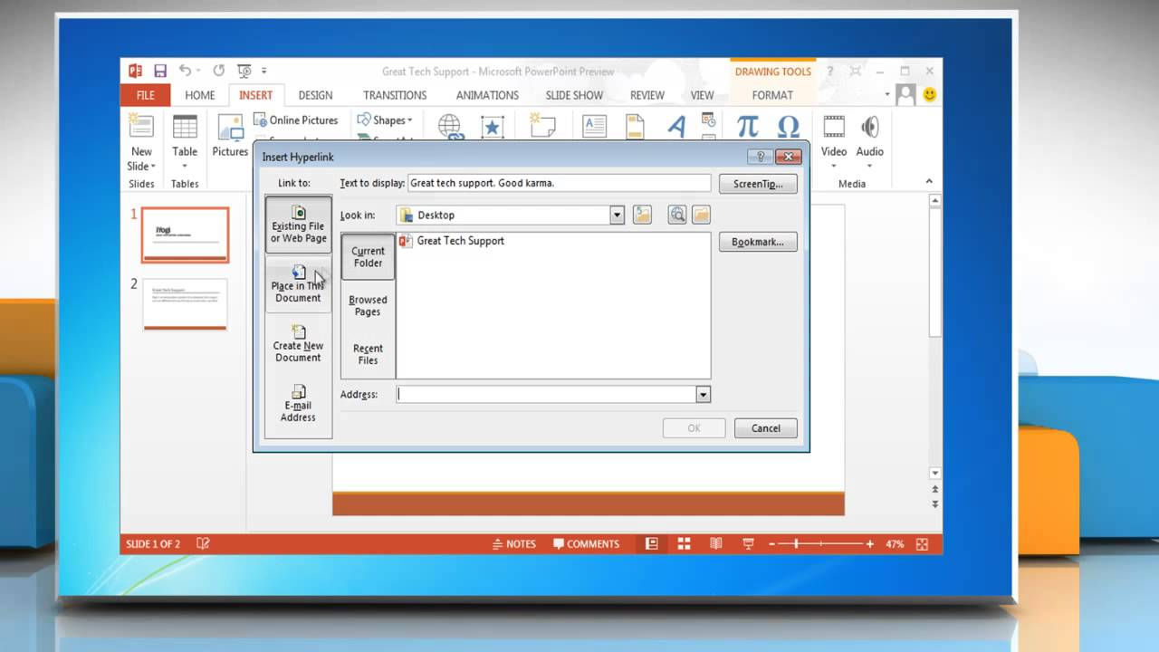 How To Make Hyperlink To Slides In Powerpoint 2013 On Windows� 7