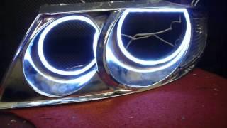 Ангельские глазки для Ниссан Альмера Классик(Проход по цветам и динамическим режимам контроллера. Автомобиль Nissan Almera Classic Заказать можно тут: https://vk.com/t..., 2013-10-20T17:24:20.000Z)