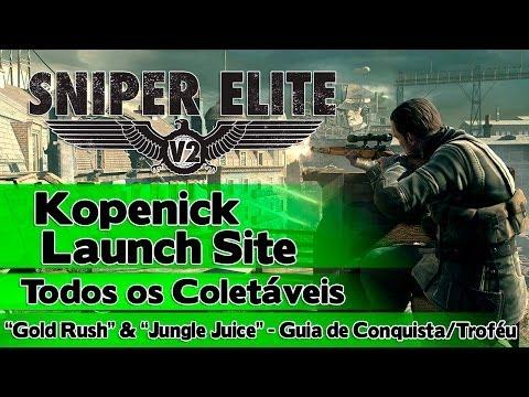 "Sniper Elite V2: Kopenick Launch Site - Todos os Coletáveis (""Gold Rush"" & ""Jungle Juice"" - Guia)"