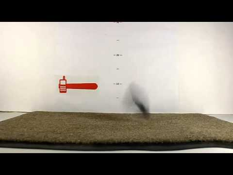 TechnoCrash#42 Alcatel OT-808 Drops on the carpet from 150 cm (4.9 ft) (bottom)885
