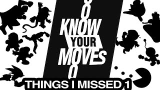 50 THINGS I MISSED! - Know Your Moves  (Smash Bros. History and Design)