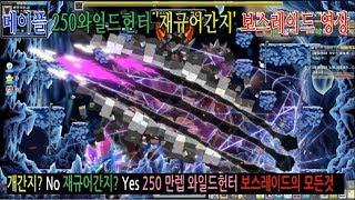 [제보영상] 메이플 250와일드헌터 개간지? No