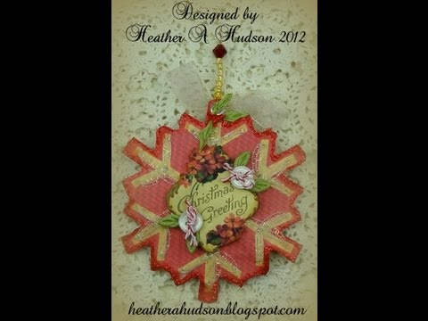 Vintage Christmas Snowflake Ornament Part Two