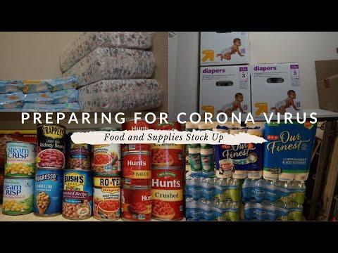 Preparing for Corona Virus   Food and Supplies Stock Up
