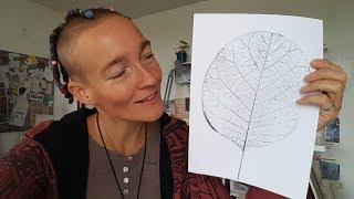 Ulrike Hirschs Kreativ-Espresso #14 | Blatt-Strukturen erweitern & vertiefen