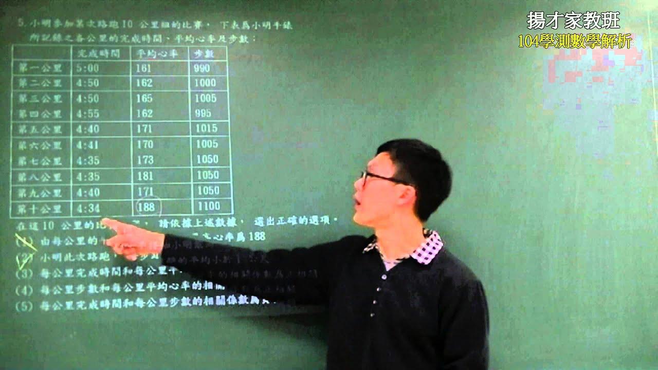 揚才家教班104學測數學解析---第五題--陳逸老師 - YouTube