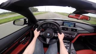 BMW M4 Convertible 2014 POV test drive GoPro