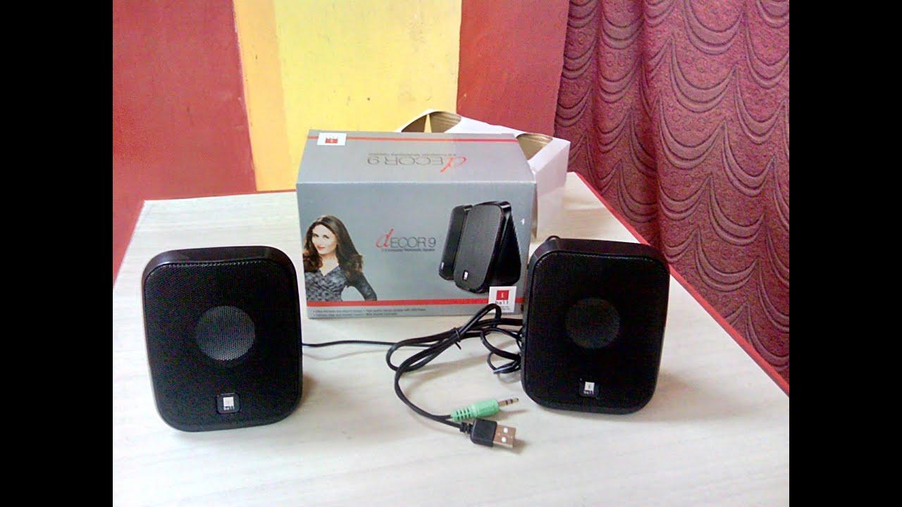 unboxing sound testing iball speaker d cor 9 usb speaker