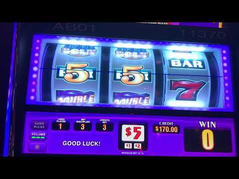 Double Gold Slot Machines - High Limit - JACKPOT 1st Spin On SECOND Machine