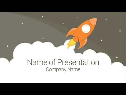 rocket powerpoint template - youtube, Presentation templates