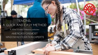 How to Make Tenons with Easily Obtainable Tools