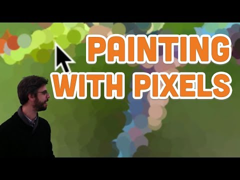10.7: Painting with Pixels - Processing Tutorial