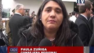 24 JULIO 2015 CORE PAULA ZUÑIGA DESTACA INVERSION EN NUEVA PREFECTURA DE CARABINEROS