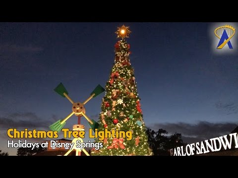 Lighting the Christmas Tree at Disney Springs