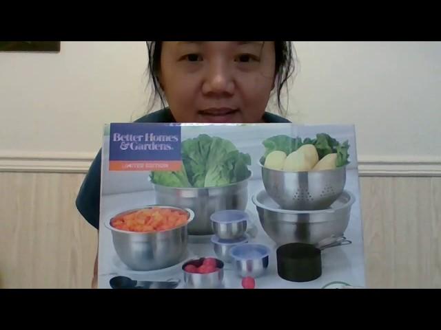 BETTER HOMES & GARDENS Kitchen Set Stainless Steel Prep & Store Set 23 Piece | Kitchen Tool