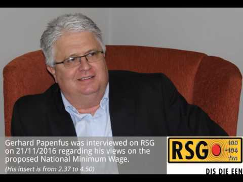 Gerhard Papenfus share his views on the National Minimum Wage on RSG