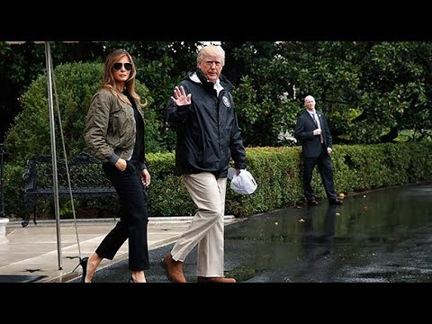 Melania Trump ridiculed for wearing high heels to visit Houston floods