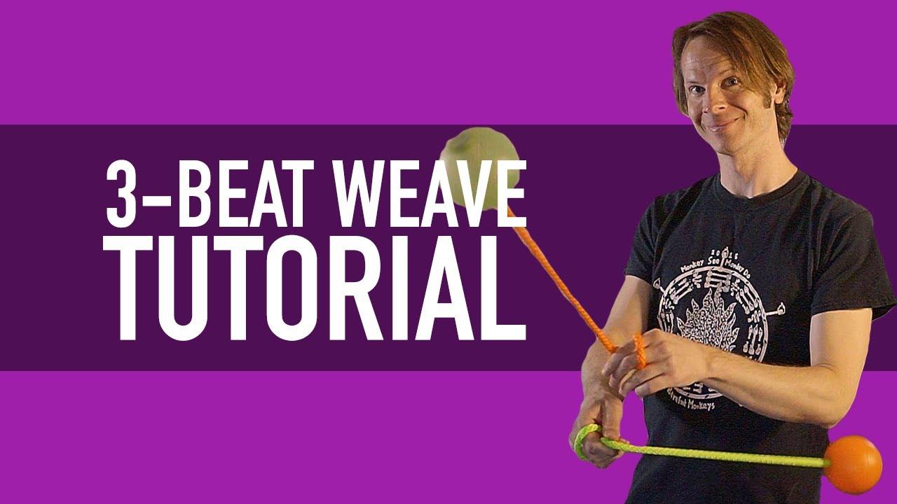 Poi 3-beat weave tutorials
