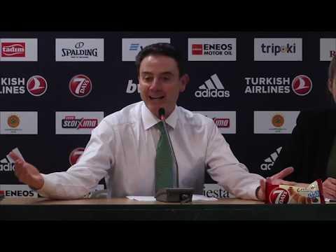 Euroleague Post - Game Press Conference   Panathinaikos ΒC OPAP Athens vs Buducnost VOLI Podgorica