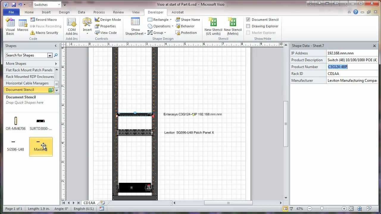 visio 2010 network rack diagram tutorial part 6 saving shapes youtube [ 1280 x 720 Pixel ]