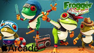 Apple Arcade - Frogger in Toy Town Gameplay Review