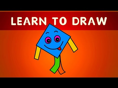 You Can Teach Your Child At Home | Learn To Draw Blue Kite