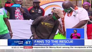Fans to the rescue : Gor Mahia fans distribute relief goods to families affected by Covid-19