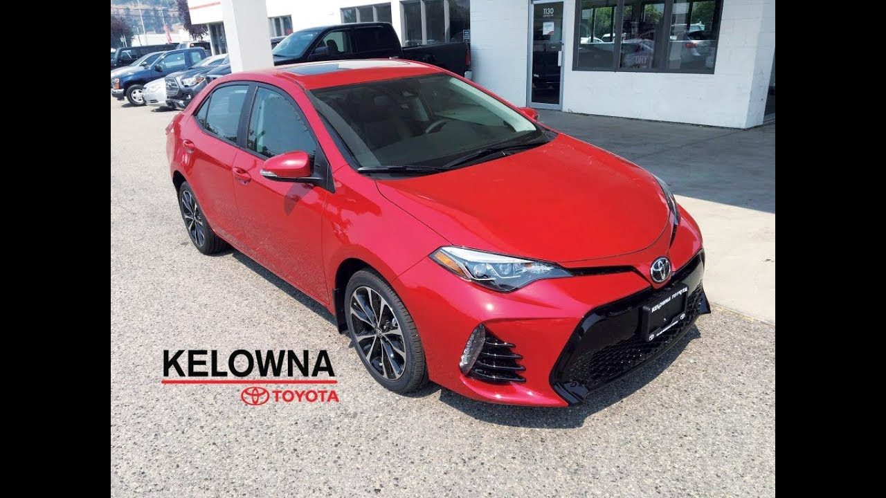 2017 Toyota Corolla Se Barcelona Red Overview Youtube