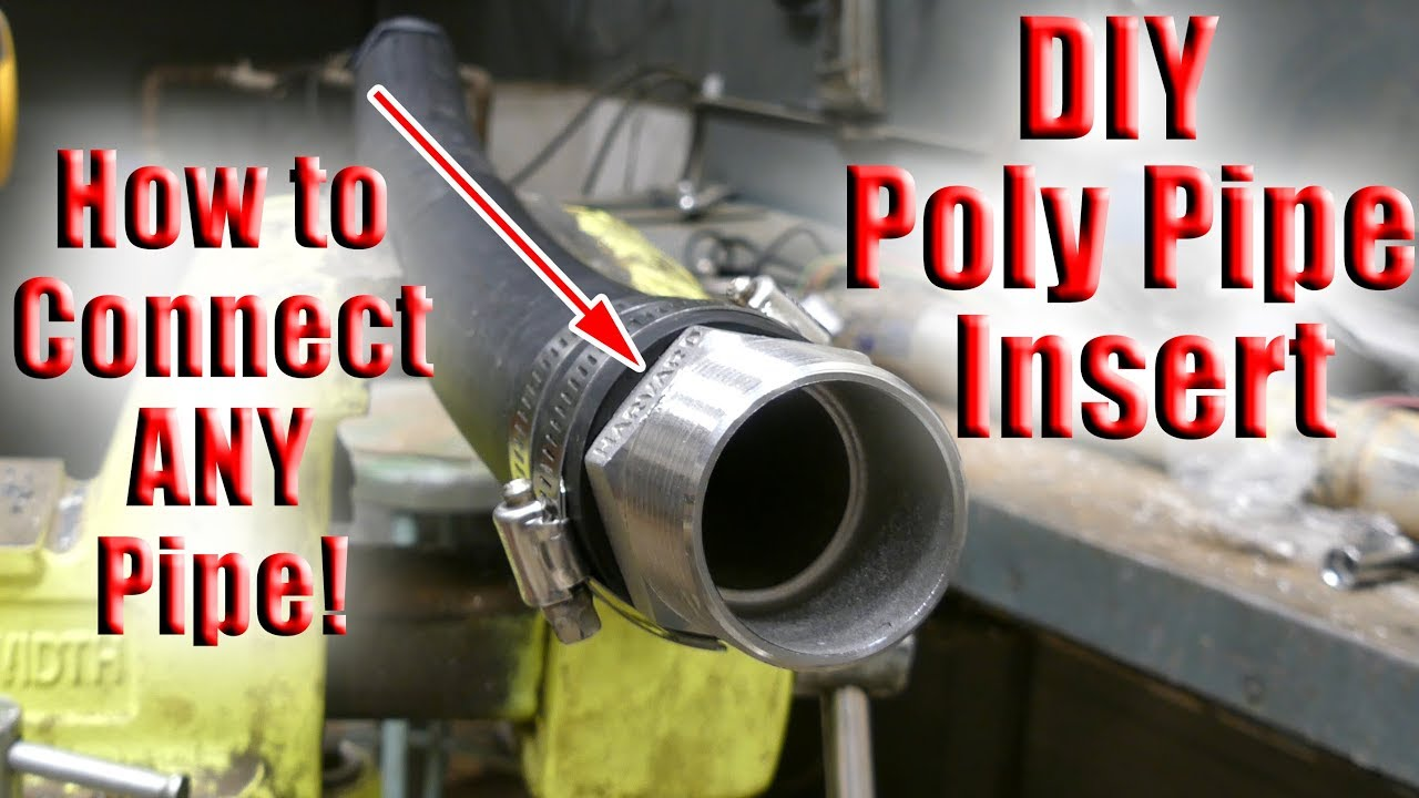 How To Connect Poly Pipe To Anything Using Barbed Fittings