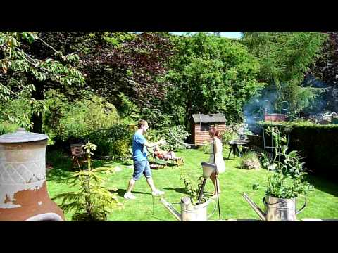 Badminton in the garden.MOV