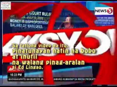 ed lingao tv5 idiot fallacy report 3