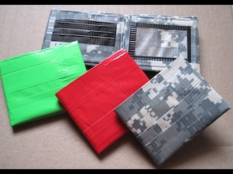 How To Make A Simple Duct Tape Wallet Youtube