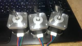 Как подключить шаговый двигатель Nema17 к Arduino (В ОПИСАНИИ). Connecting Stepper motor Nema17