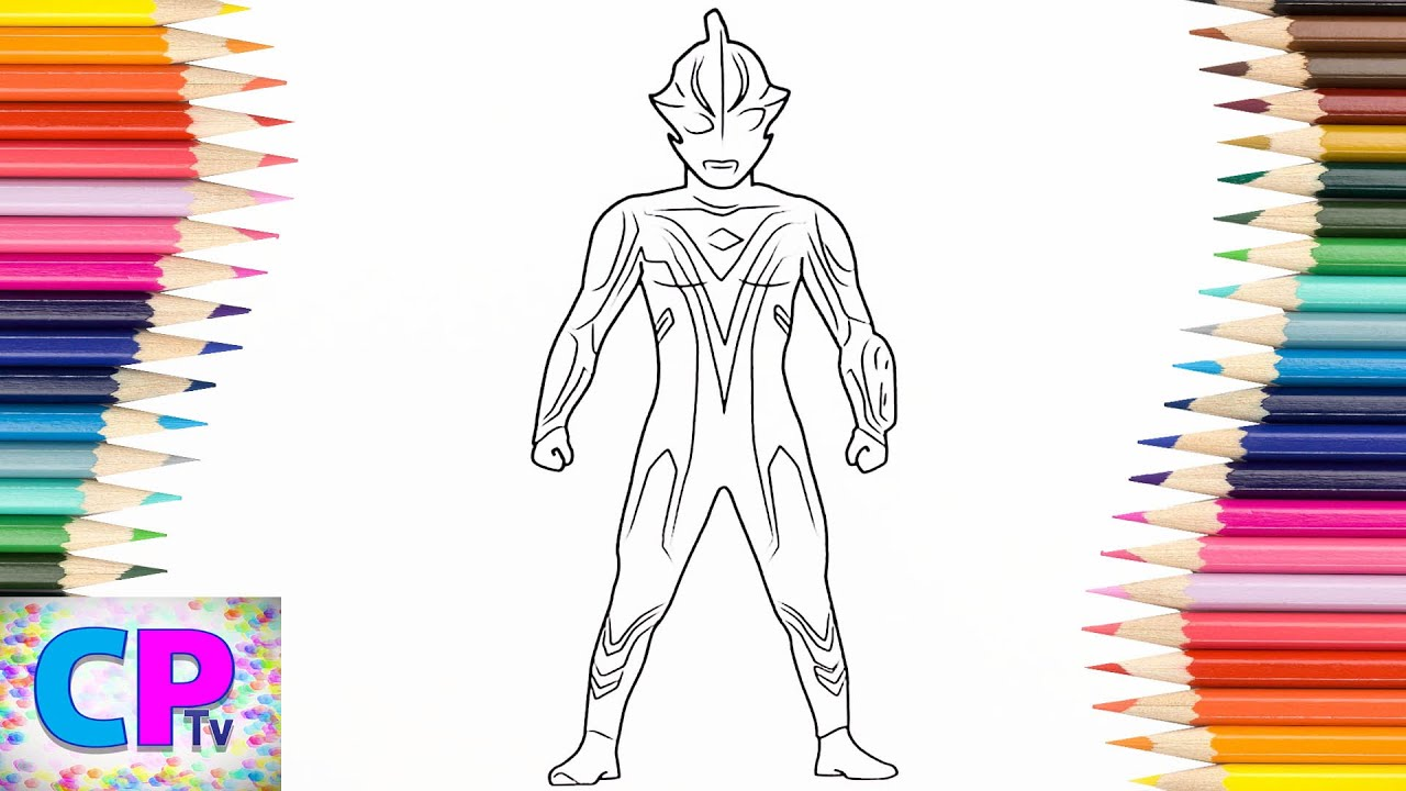 Ultraman Mebius Coloring Pages For Kids How To Color Ultraman