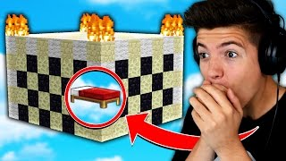 WORLDS BEST BED DEFENSE! (Minecraft BED WARS Trolling)