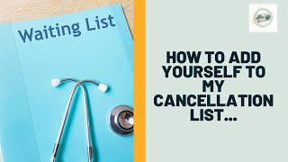 How to add yourself to my wait list
