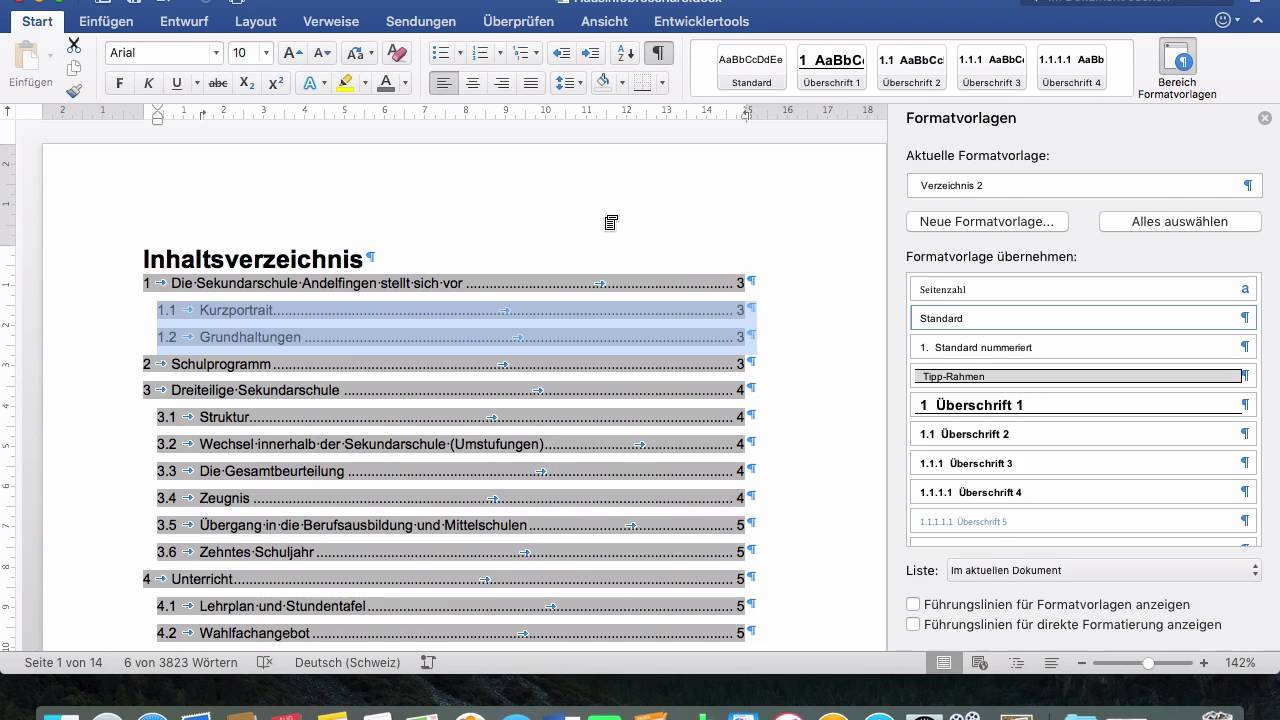 Word 2016 Mac: 184 Inhaltsverzeichnis - YouTube