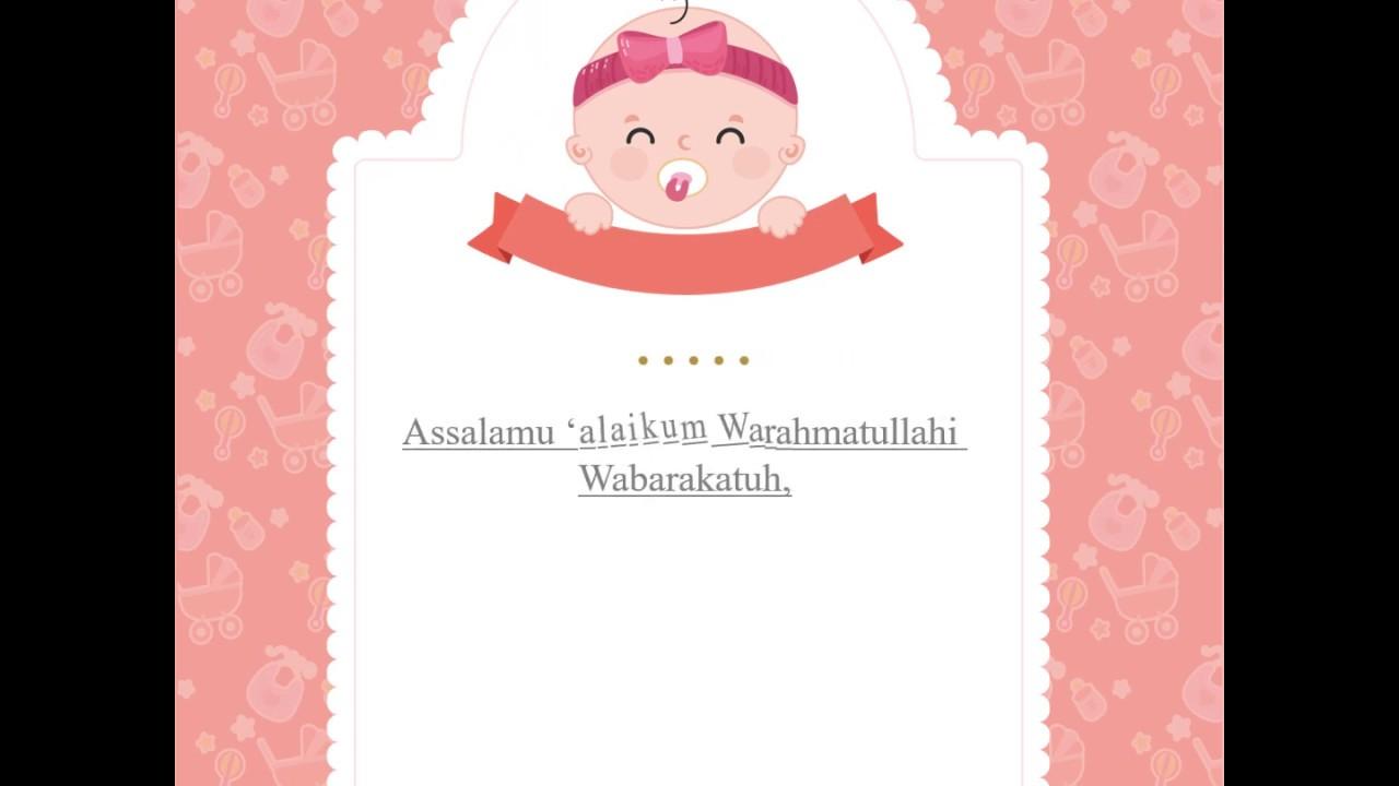 Template undangan aqiqah powerpoint   YouTube