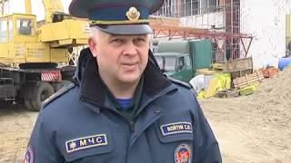 2018-11-13 г. Брест. Этапы строительства пожарного депо. Новости на Буг-ТВ. #бугтв