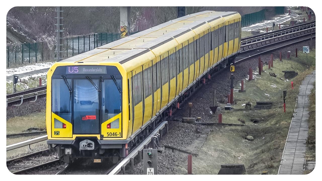 U-Bahn Berlin • U5 • Bombardier BVG Baureihe H • Metro ...