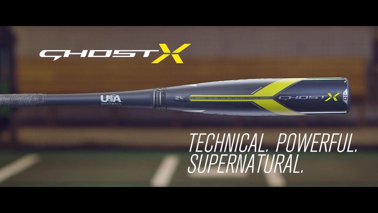 EASTON GHOST X USA BASEBALL BAT TECH VIDEO (2018)