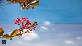 [우티쇼트] 포토샵 하늘 보정시 보다 푸르게 표현 하는 방법!