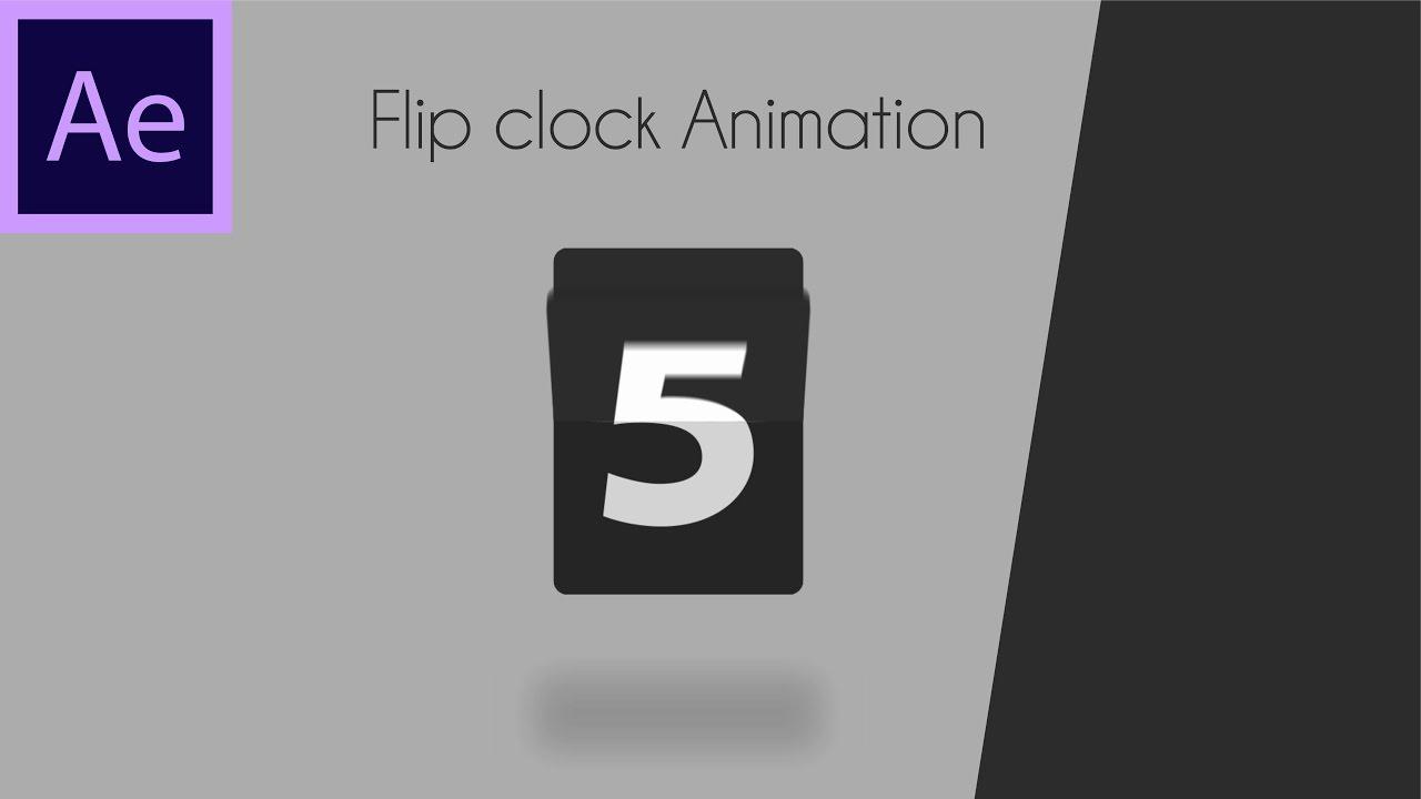 Flip clock Animation Tutorial 06 | After effect