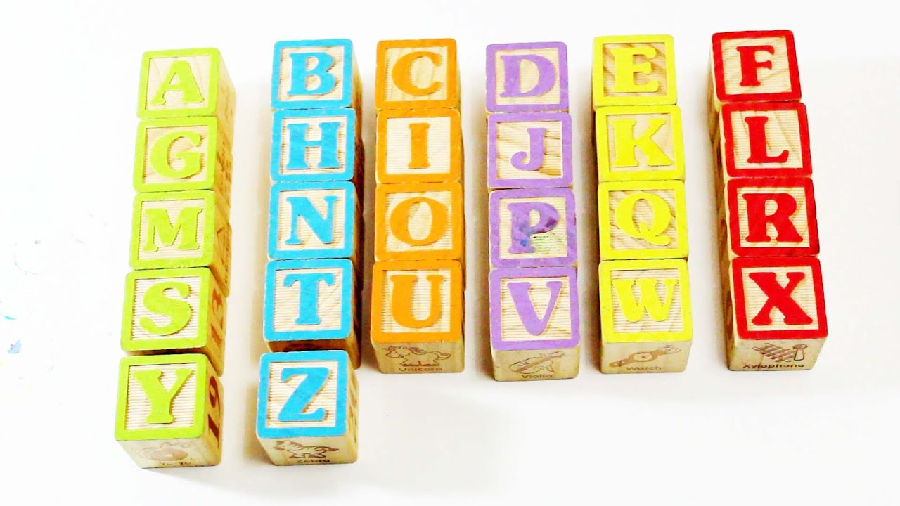 alphabet letter wood blocks youtube