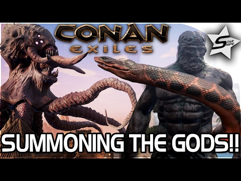 Conan: Exiles Gameplay - SUMMONING THE GODS AVATARS! SUMMONING YOG, SUMMONING SET, SUMMONING MITRA!!